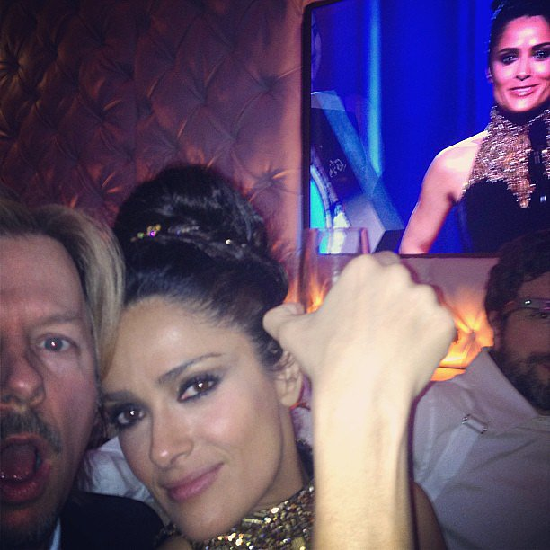 We were seeing double when David Spade posted this picture of himself and Salma Hayek.  Source: Instagram user davidspade