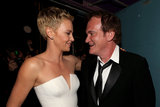 Charlize Theron and Quentin Tarantino backstage at the 2013 Oscars.