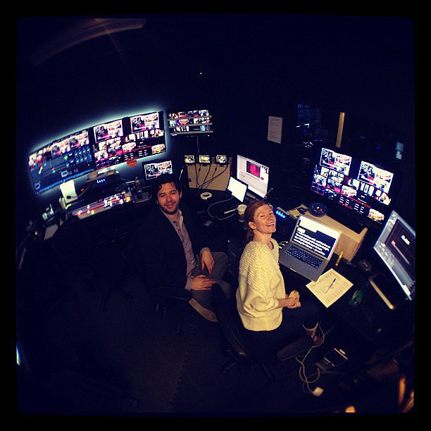 Our POPSUGAR Live! producers prepared for our Oscars viewing party and red-carpet show. Source: Instagram user cehawk