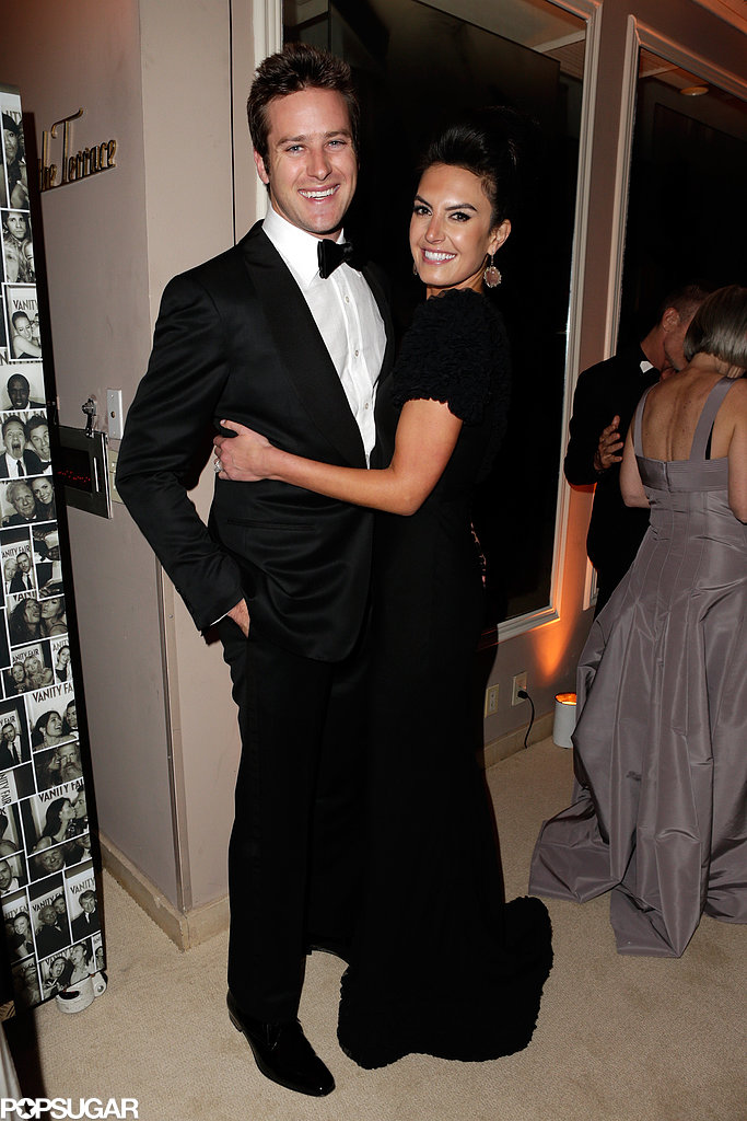 Armie Hammer and Elizabeth Chambers posed inside Vanity Fair's Oscar after-party.