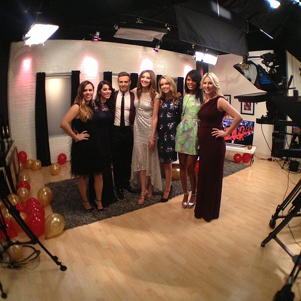 Our POPSUGAR Live! Oscars viewing party team got all dolled up for the big day. Source: Instagram user beckykirsch