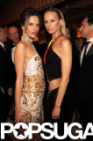 Alessandra Ambrosio and Karolina Kurkova posed together at Vanity Fair's Oscar after party.