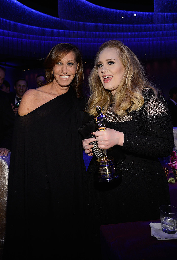 Adele hung out with Donna Karan at the Governors Ball.