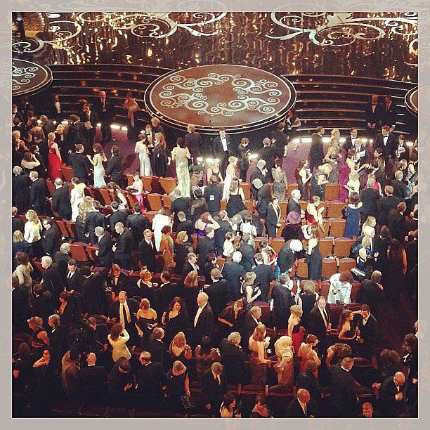 A peek inside the Dolby Theatre during the Oscars. Source: Instagram user lisapopsugar