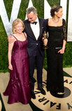 Daniel Day-Lewis arrived with his family at the Vanity Fair party.