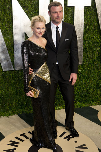 Naomi Watts and Liev Schreiber arrived at the Vanity Fair Oscar party.