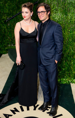 Gael García Bernal arrived at the Vanity Fair Oscar party.