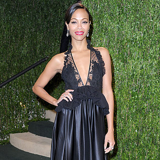 Zoe Saldana Oscar Party Dress 2013 | Pictures