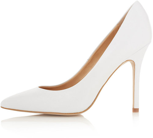 topshop white gwenda pointed court shoes uk 8 41 heels