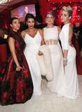 Kourtney & Kim Kardashian, Kelly Osbourne & Miley Cyrus