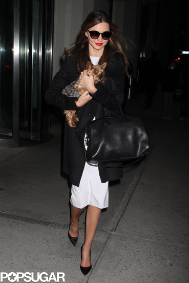 Miranda Kerr Wears Black and White to Hit the Town With Frankie