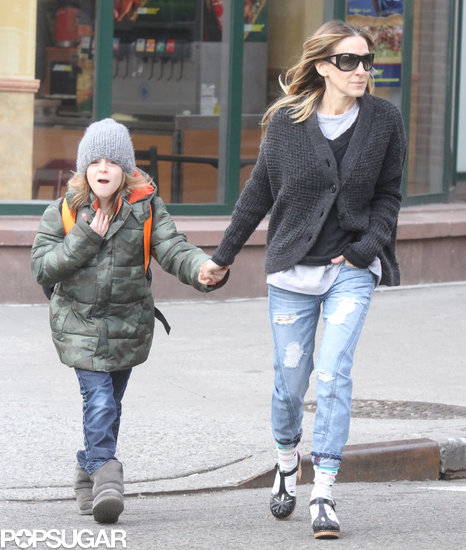 Sarah Jessica Parker held hands with her son, James Wilkie, in NYC.