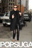 Miranda Kerr waved to cameras while hitting the streets in NYC.