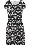 Oscar de la Renta for The Outnet printed cotton canvas dress