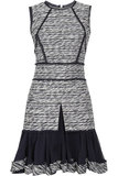 Oscar de la Renta for The Outnet silk-chiffon tweed dress