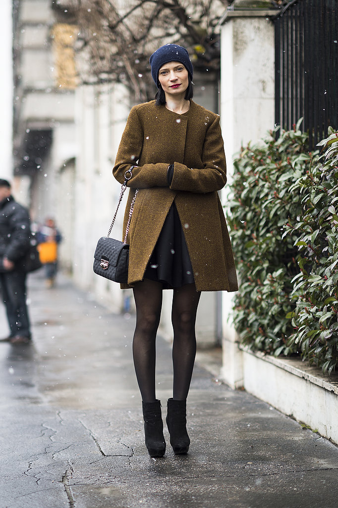 Minimalist cuts and a cool-girl beanie came together effortlessly in this look. Source: Le 21ème | Adam Katz Sinding