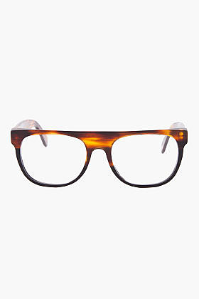 SUPER Small Brown Flat Top Optical Glasses