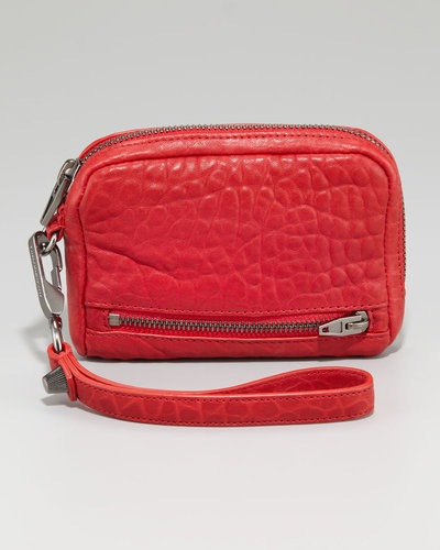 Alexander Wang Fumo Zip-Around Wristlet, Cayenne