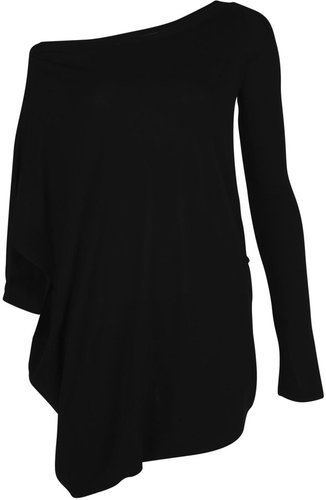 One Sleeve Drape Dress, McQ by Alexander McQueen