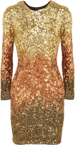 Rachel Gilbert Shivaun dégradé metallic sequined dress