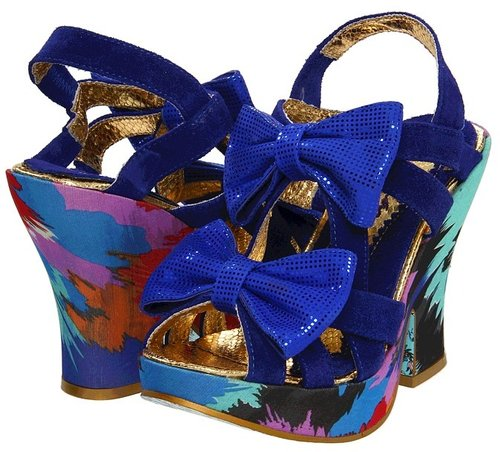 Irregular Choice - Squiggly Diggly (Blue) - Footwear