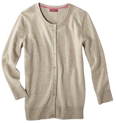 Merona Women&#039;s Crewneck 3/4 Sleeve Cardigan Sweater -  Assorted Colors