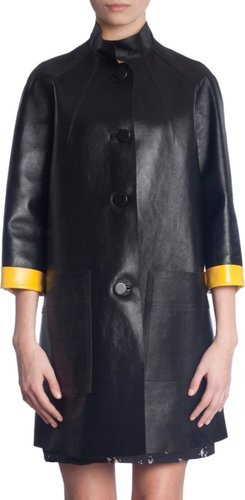 Marni Mock Neck Coat