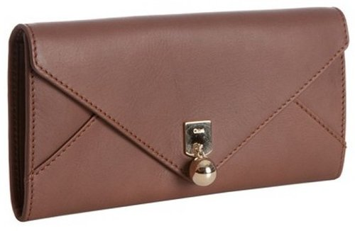 Chloe granite leather continental envelope wallet