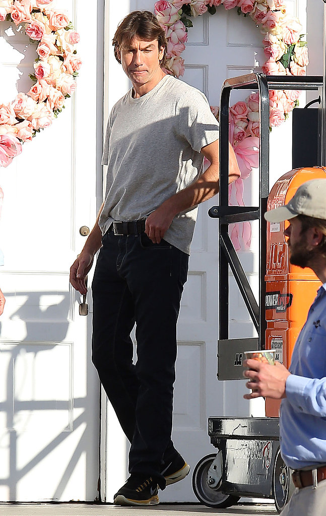 Jerry O'Connell stepped onto the set of his upcoming untitled Rob Greenberg project in Studio City in Los Angeles on Tuesday.