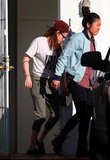 Kristen Stewart left a house with a friend in Hollywood.