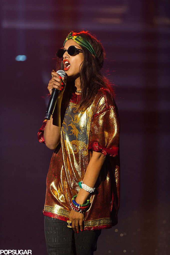 M.I.A. also performed at the Etam lingerie show on Tuesday night.