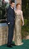 Nicholas Hoult and Eleanor Tomlinson at the Jack the Giant Slayer premiere.