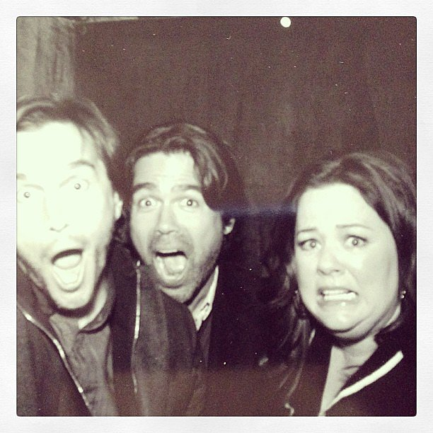 Shoe designer Brian Atwood and his boyfriend hung out with Melissa McCarthy. Source: Instagram user brian_atwood