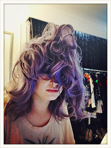 Kelly Osbourne had some pretty crazy bedhead after a 15-hour sleep. Source: Twitter user MissKellyO