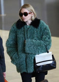 Ashley Olsen sported a pair of The Row sunglasses.
