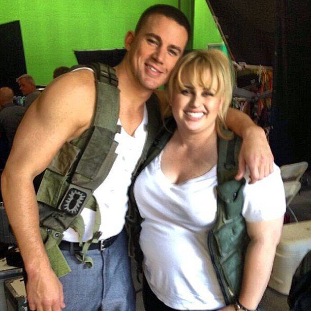 Channing Tatum and Rebel Wilson teamed up to shoot promos for the MTV Movie Awards. Source: Instagram user channingtatumunwrapped