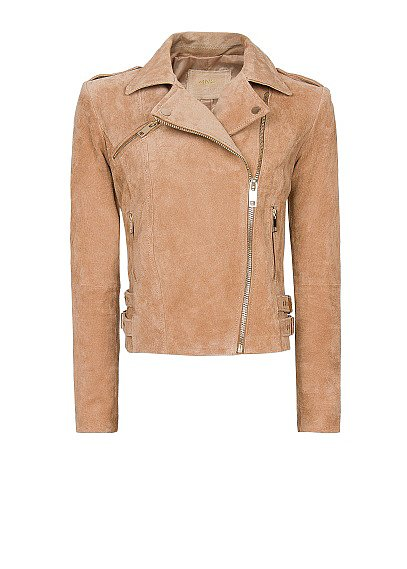 How sweet is this pastel pink Mango jacket ($100)? The soft hue is ideal for Spring, while the moto style lends just the right amount of edge. I'd pair it with a dainty dress and suede ankle boots for day, then black leather pants and caged sandals for a gothic-glam twist at night. — Mandi Villa, contributing editor