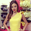 Miranda Kerr in Yellow Dress For Victoria&#039;s Secret (Video)