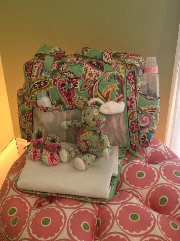Convertible Baby Bag in Tutti Frutti ($109) Bunny in Tutti Frutti ($19)