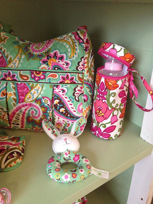 Baby Bottle Caddy ($18) Mom's Day Out bag in Tutti Frutti ($93)