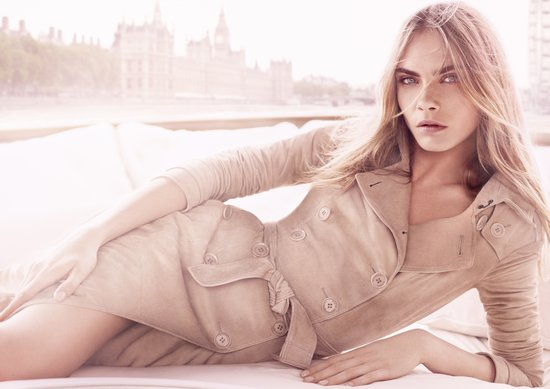Cara Delegvigne is the Burberry Body Tender Girl