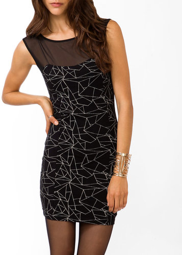 FOREVER 21 Geo Print Bodycon Dress