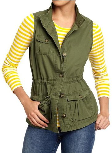 Women's Twill Cargo Vests