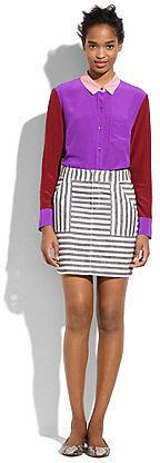 Striped miniskirt