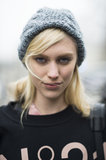 Smudging a touch of gray eye shadow under your eyes, like model Juliana Schurig did here, is a great daytime look that has just the right amount of bold.  Source: Le 21ème | Adam Katz Sinding