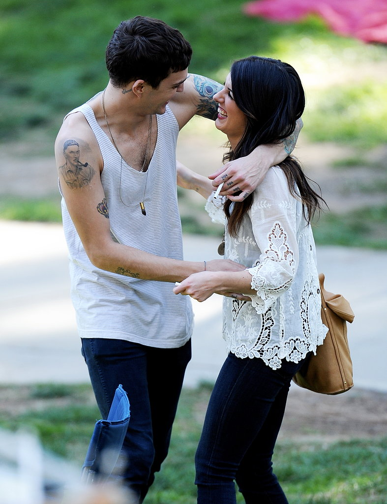 Shenae Grimes took a break from the 90210 cameras to spend quality time with her fiancé, Josh Beech.