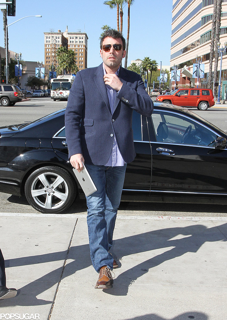 Ben Affleck arrived at the TED conference.