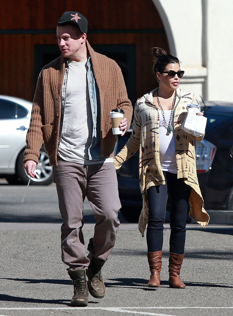 Channing Tatum and Jenna Dewan spent Thursday afternoon with friends in Santa Barbara.