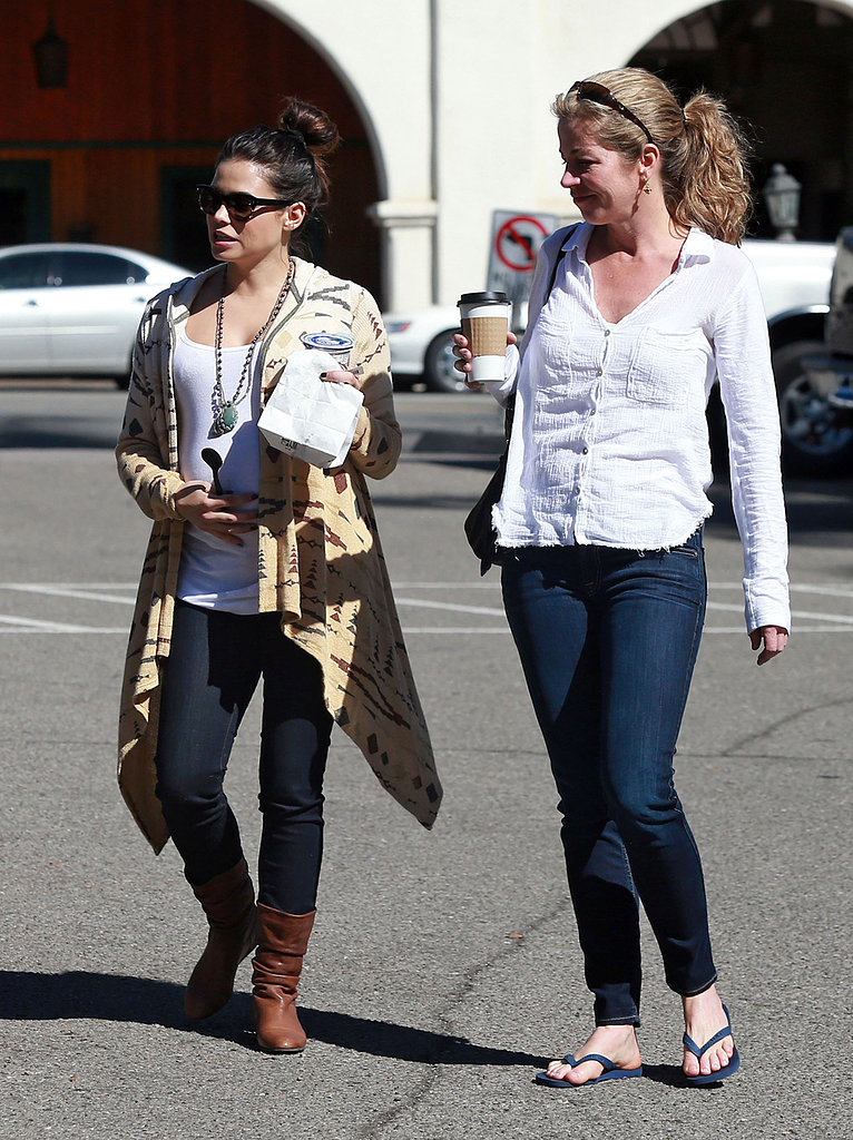 Jenna Dewan walked with a friend in sunny Santa Barbara on Thursday.