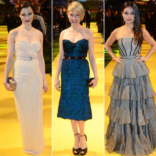 Rachel, Michelle, and Mila Go Strapless at Oz's London Premiere